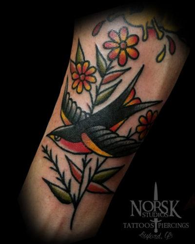 bird-and-flowers