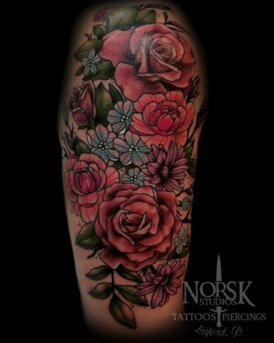 watercolorflowerhalfsleeve